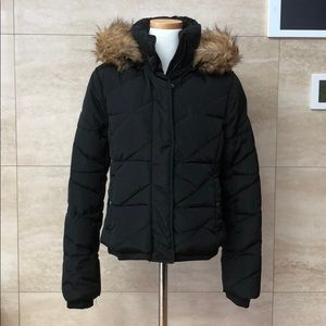Zara Short Puffer / Black / Small